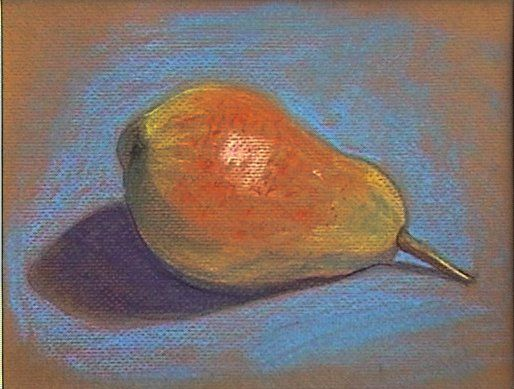 Birne, Pastell, 40X30 cm