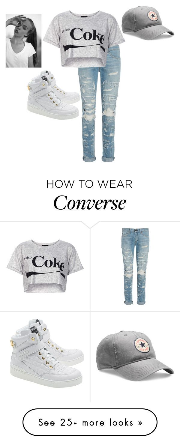 """""""♥"""" by flippingdimples on Polyvore featuring Moschino, Converse, rag & bone, Topshop, women's clothing, women, female, woman, misses and juniors"""