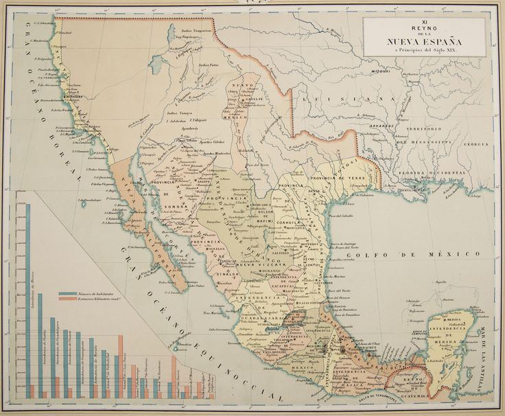 Viceroyalty of New Spain circa 1800