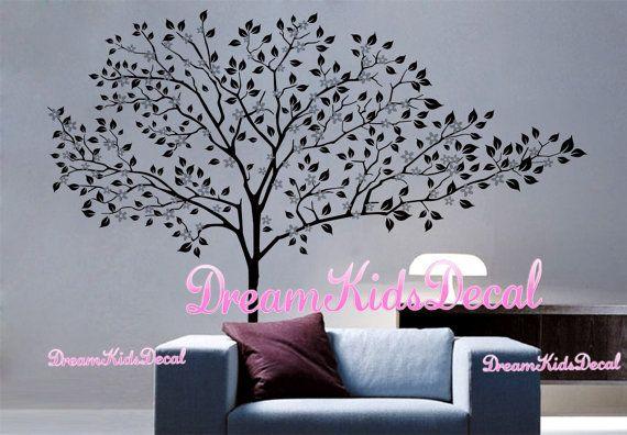 Wand Aufkleber charmante rosa Blüte Baum Cherry Blossom Baum
