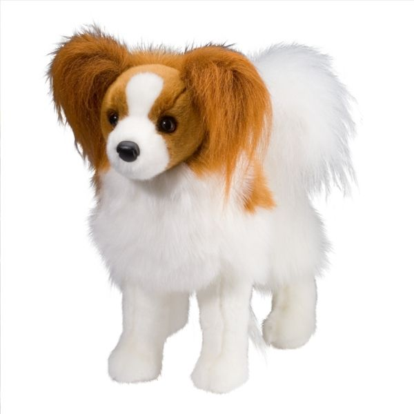 Feathers the Plush Papillon Puppy by Douglas