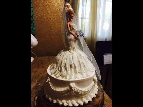 Decoration Of Doll Cake : Bride Barbie Doll Cake- Cake Decorating- Buttercream ...