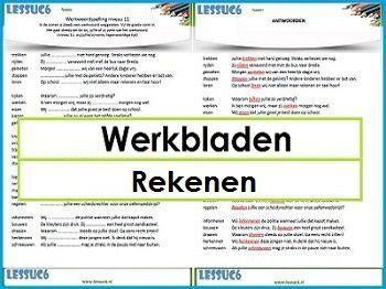 Werkbladen Rekenen en andere vakken, mèt antwoordvellen, allerlei omderwerpen!,