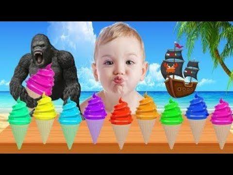Mal Bebé Llorando Con Helado Aprender Colores Para Niños Dedo Canción In...