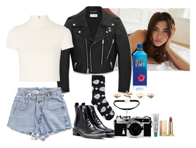 Dua Lipa Concert  by imimidoll on Polyvore featuring polyvore fashion style Alice + Olivia Yves Saint Laurent Oasis Acne Studios Sephora Collection Nikon clothing