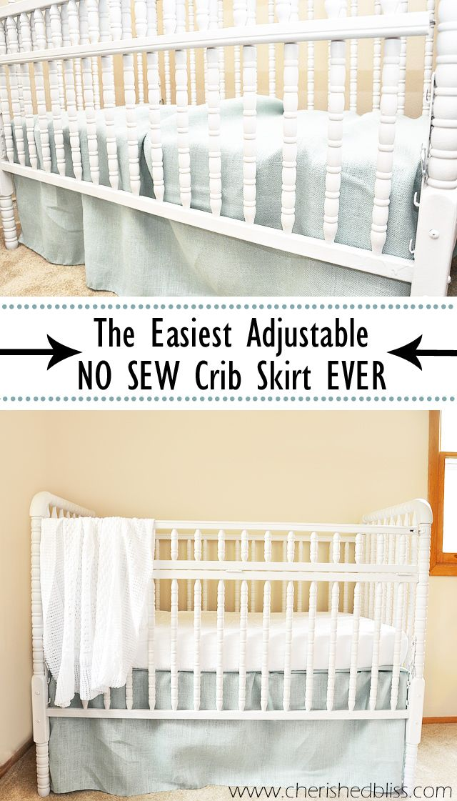 The Easiest DIY Crib Skirt Tutorial Ever Share Your Craft Classy Crib Skirt Pattern