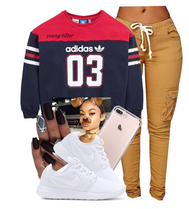 """"" by young-tiller ❤ liked on Polyvore featuring adidas Originals and NIKE"