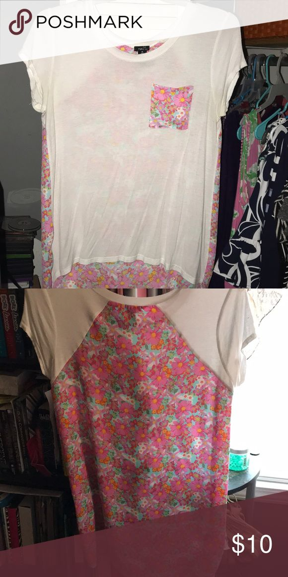 flowy tshirt very cute and great for summer, worn once didn't like the whole long in the back situation Rue 21 Tops Tees - Short Sleeve