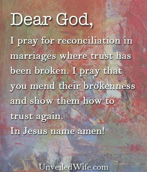 God restoring broken relationships