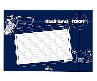 Spiel Stadt Land Tatort mit Wecker, 2-tlg.