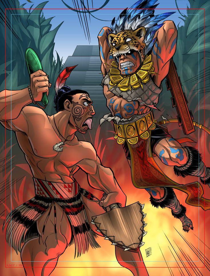 Image from http://orig11.deviantart.net/ec88/f/2012/259/8/8/maori_vs_aztec_by_andronicusvii-d5exhfd.jpg.
