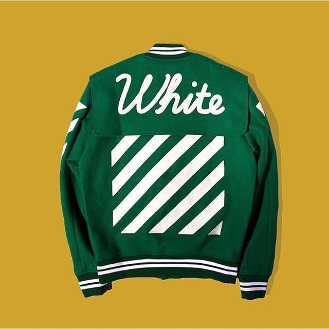 The Off-White Varsity Jacket is back at @unionlosangeles. #offwhite #varsity #jacket #streetwear #streetstyle #menswear #union #la