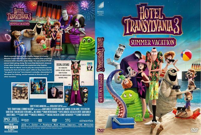 hotel transylvania 3 summer vacation 2018 dvd custom cover