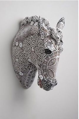 These creations are by Joana Vasconcelos, the eminent Portuguese artist, for her I Will Survive exhibition