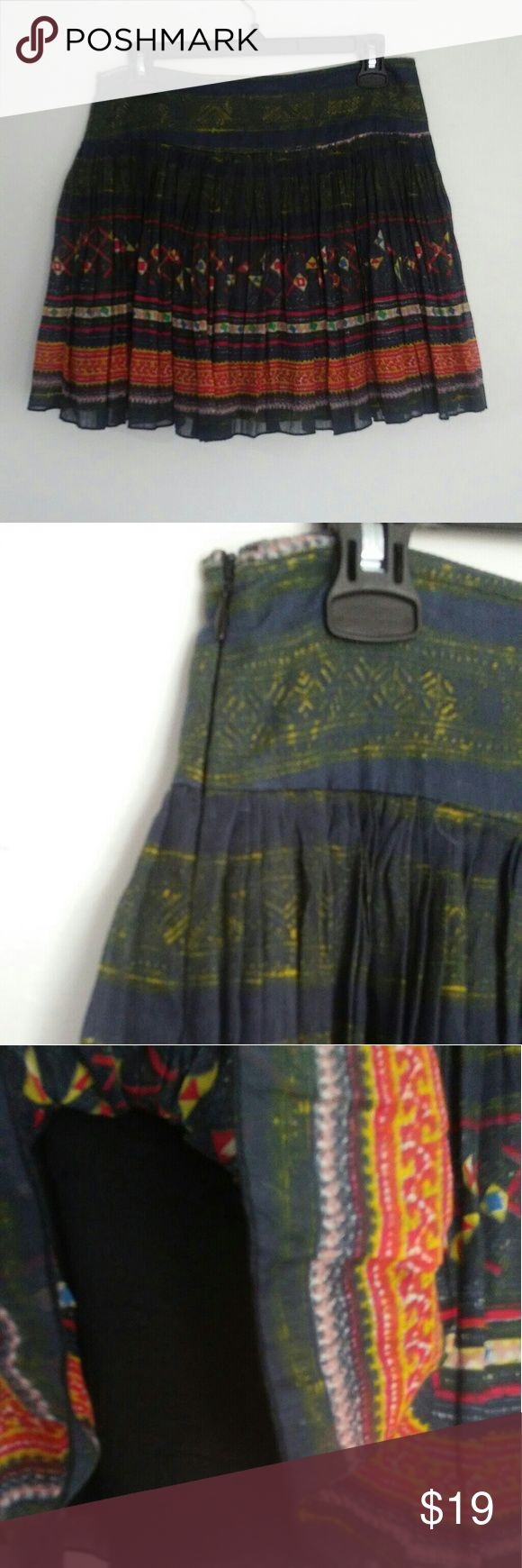 FP ONE by Free People skirt FP ONE adorable multi color skirt fully lined. Gently used. Free People Skirts Mini