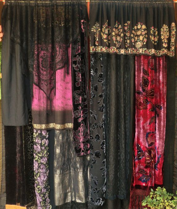 SIGN of the GYPSY QUEEN  Handmade Gypsy Curtains by BabylonSisters