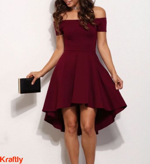 Style, on fleek with this high low maroon dress. #Kraftly