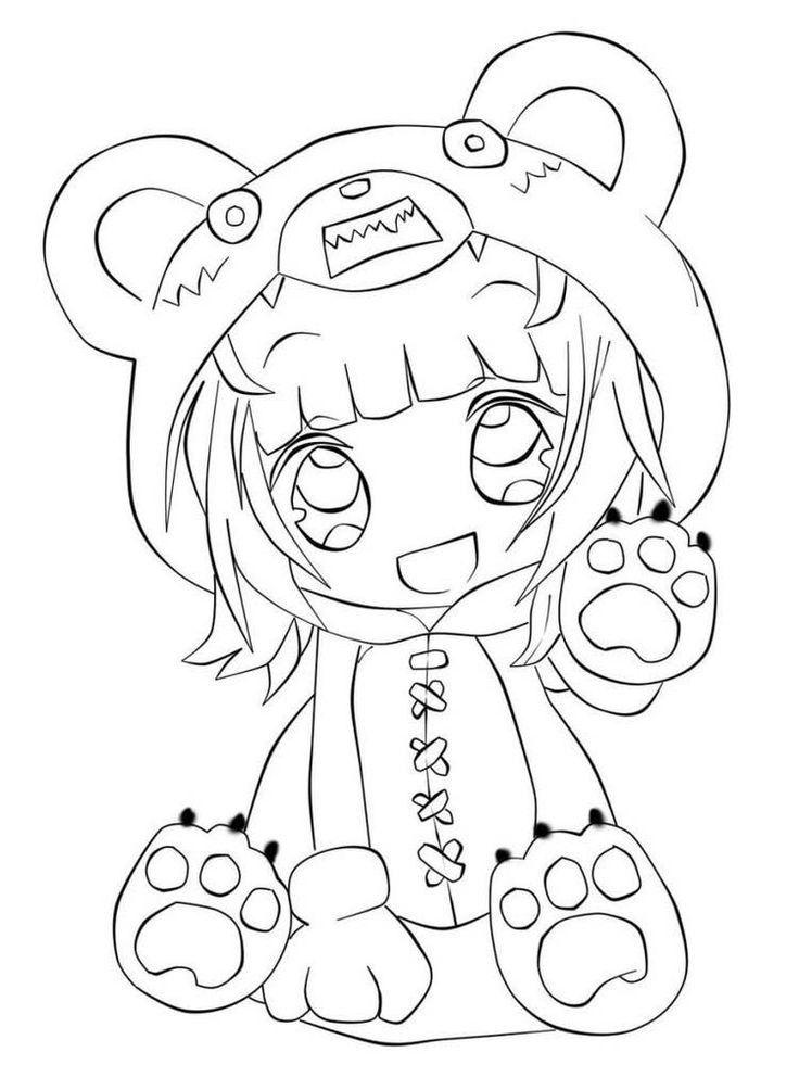 Chibi Anime Coloring Pages Buku Mewarnai Sketsa Cara Menggambar