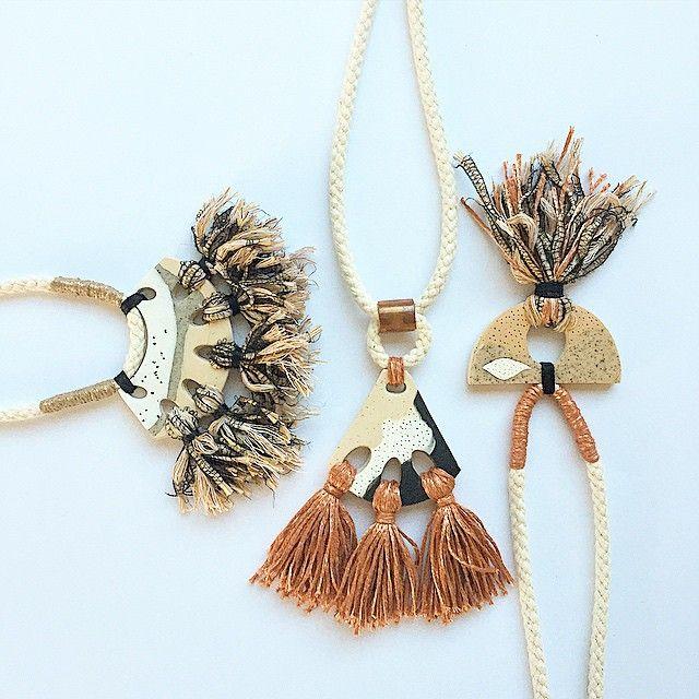 Necklaces by Kelaoke - Etsy. #stringharvestmakes #etsyau #etsy #polymerclay #jewellery_kc #australianhandmade