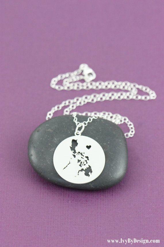 Philippines Necklace - Philippines Jewelry - Philippine Islands - Missionary - Mission Trip Keepsake - Souvenir - Prayer Reminder
