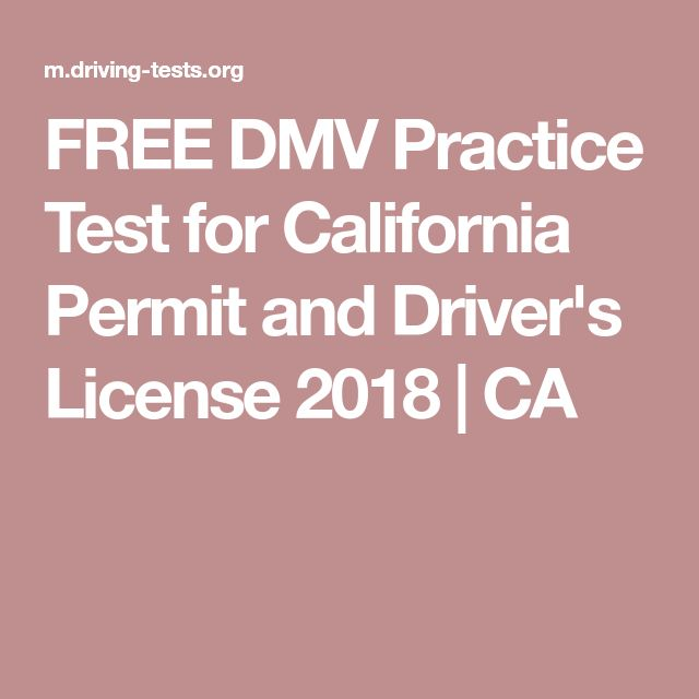 FREE DMV Practice Test for California Permit and Driver's License 2018   CA