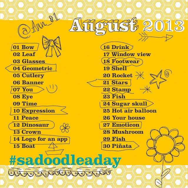 Doodle a day - August #sadoodleaday