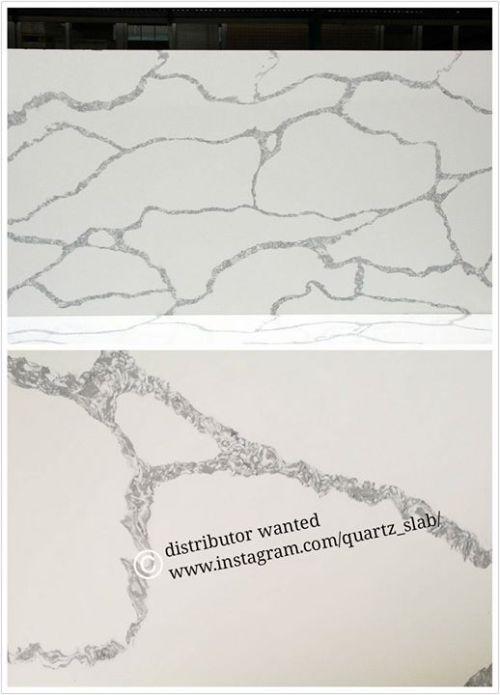 quartz slab in #calacatta white for #countertop #solidsurface...