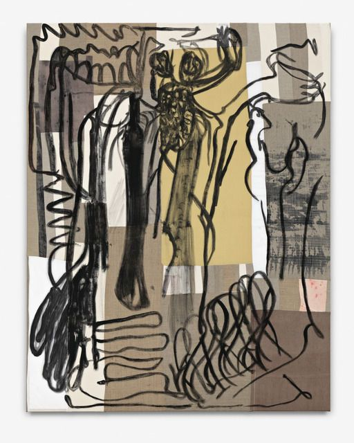PETER LINDE BUSK The human figure is the highest form and express perfect 'absolute' beauty, 2012 Acrylic and crayon on canvas and linen 73 × 57 in 185.4 × 144.8 cm Josh Lilley