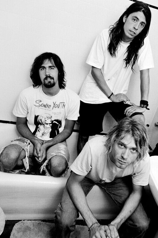 Young Kurt Cobain? That's Dave Grohl!  #NIRVANA [Kurt Cobain, Krist Novoselic, Dave Grohl]