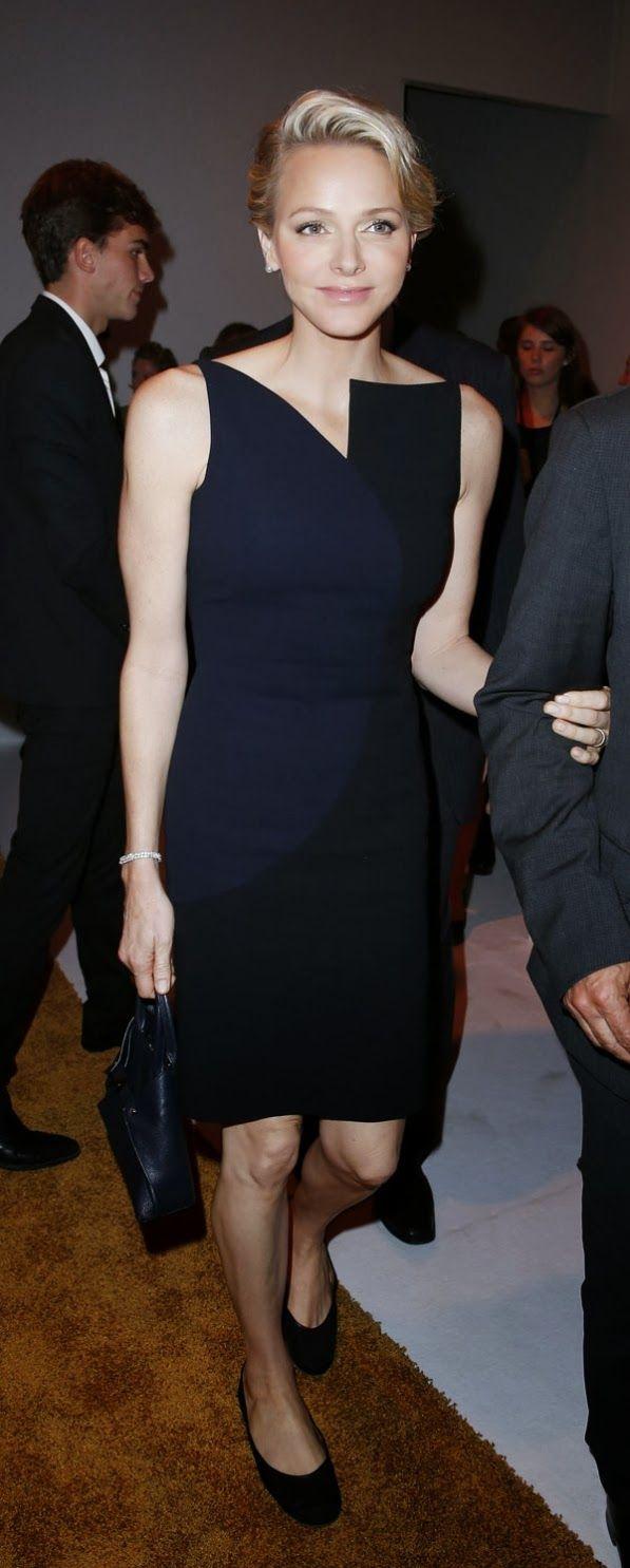 MYROYALS &HOLLYWOOD FASHİON: Princess Charlene attended Akriss Fashion show at Grand Palais in Paris, September 29, 2013