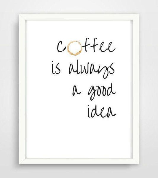 Poster A4 Kaffee für Küche oder als Geschenk! von PAP-SELIGKEITEN – Poster, Drucke, Postkarten auf DaWanda.com