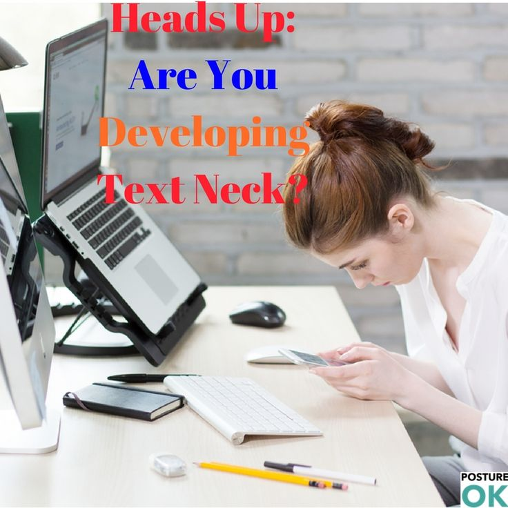 Text neck is becoming an 'epidemic' and could ruin your spine...  Download our FREE e-book to fix bad posture.