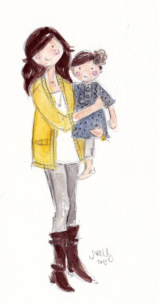 Custom Watercolours at Sophie & Lili, the cutest paintings I ever did see