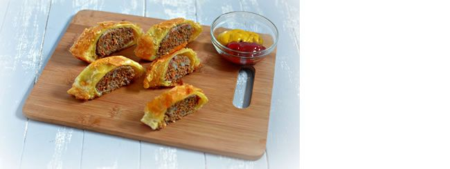 The traditional fast food sausage roll makes a comeback in this fine dining version. Step-by-step photo tutorial.