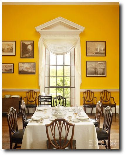 33 best regency interior images on pinterest interiors for Yellow painted rooms