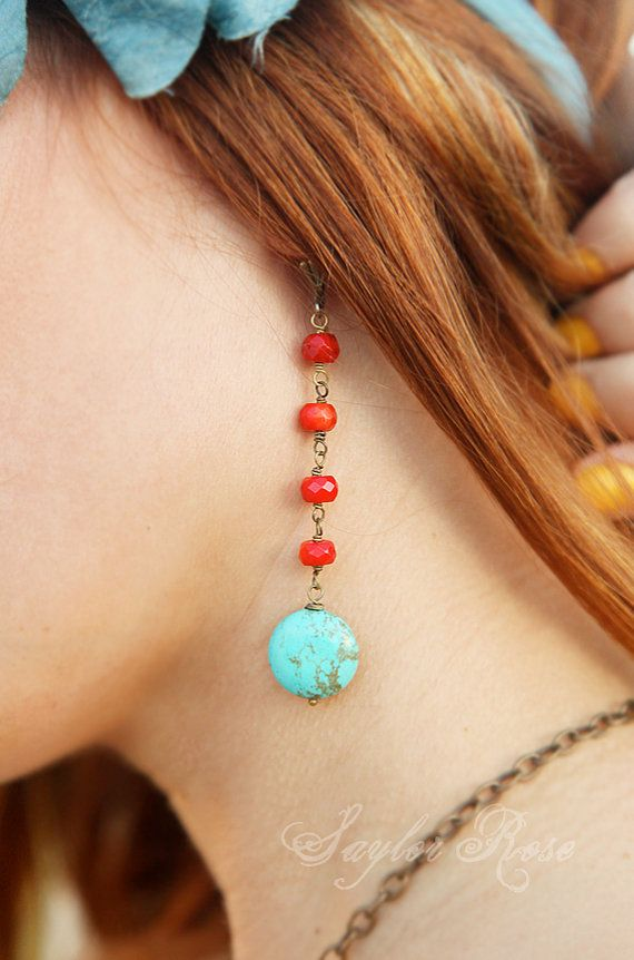Indian Summer Earrings by saylorrose on Etsy