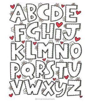 Block lettering whimsical