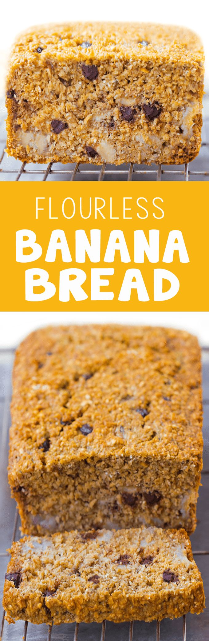 Flourless Banana Bread - 2 cups mashed banana, 1 cup oats, 1/2 tsp baking soda, 3 cups... http://chocolatecoveredkatie.com/2015/09/28/flourless-banana-bread-recipe/ @choccoveredkt