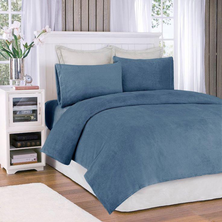 Soloft Plush Sheet Set - Sapphire (Blue) (Queen)