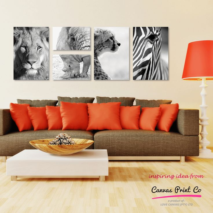 Black and white prints are a great addition to a room if you already have pops of bold colour in your decor. These amazing wildlife images are from our stock gallery, free-to-use for your prints ordered with us. We have hundreds of images in various categories so go and have a look - http://canvasprintco.co.za/gallery/