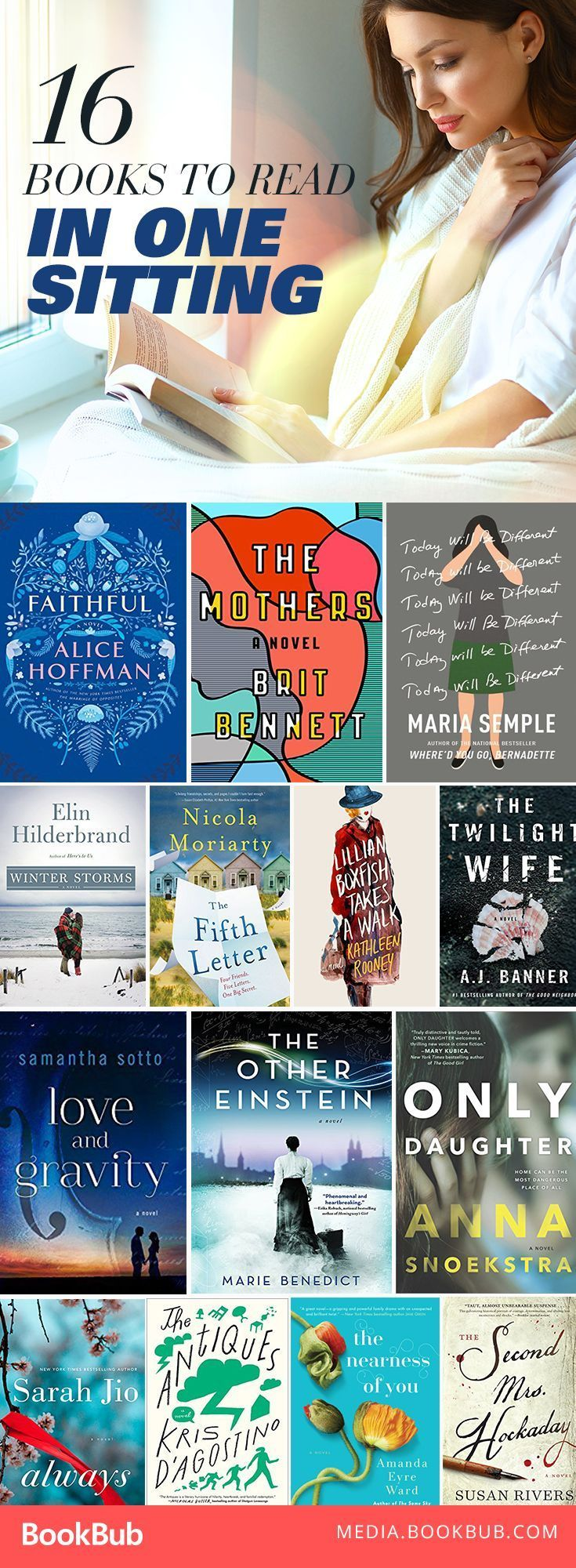 These titles are perfect to read in one sitting. Some great books worth reading this year!