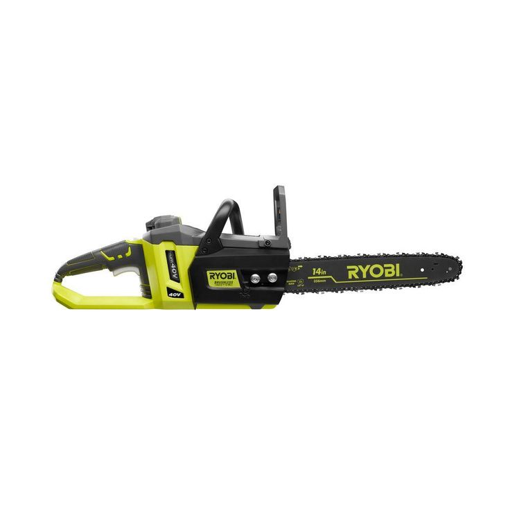 Ryobi Reconditioned 14 in. 40-Volt Lithium-Ion Brushless Cordless Chainsaw
