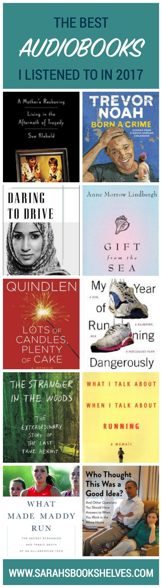 Audiobooks are a relatively new addition to my reading life, but I'm now confident enough to put together a Best Audiobooks I Listened to in 2017 list! I only listen to lighter nonfiction, so that's what you'll find here. #reading #book #bookish #bookworms #booklovers #booklist #bestbooks