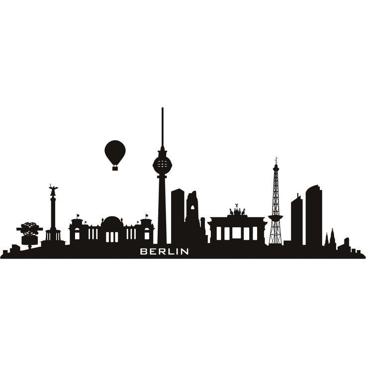 Berlin Germany Skyline Cities Wall Art Decal Wall Stickers 02