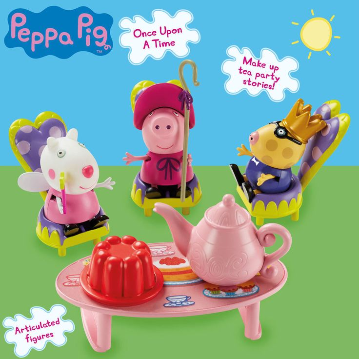 Peppa Pig Once Upon a Time - Storytime Tea Party Playset - 05756 - New in Toys & Games, TV & Film Character Toys, TV Characters | eBay!