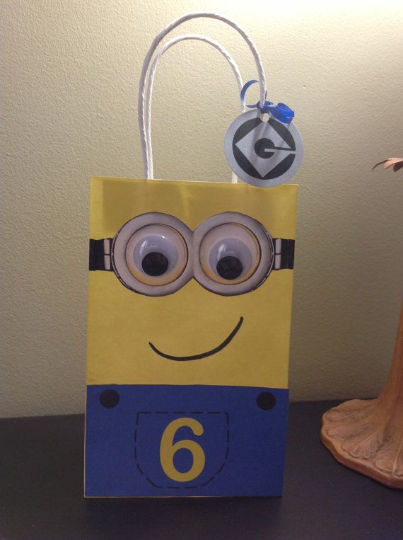 Despicable Me Minions Birthday Party Yellow Minion Handle Treat Bags by EpicEvent, $15.00