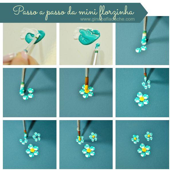 Atelier Gina Pafiadache: Passo a passo da mini flor