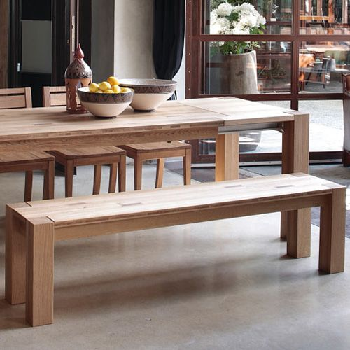 This oak bench by Devina Nais comes in a range of sizes, so pick one that would go well with your Elephant Oak Dining Table. #Portwoodstudio