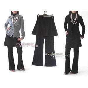 SKP-1 スカート付パンツ フォーマル 社交ダンス 衣装 楽ちん 50代 60代 やせて見える ファッション 美脚 パンツ