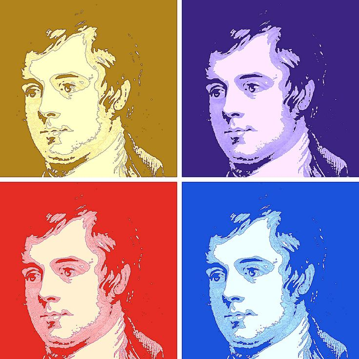 Robert Burns ( Warholised )